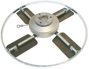 lopatkové hladítko 600 mm, ocelové lopatky